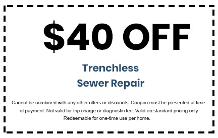 Discount on Trenchless Sewer Repair