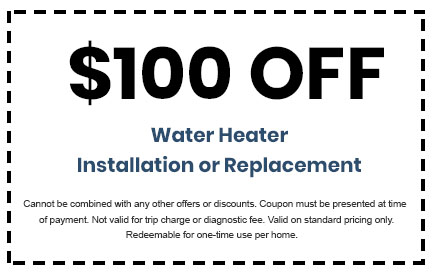 Discount on Water Heater Installation or Replacement