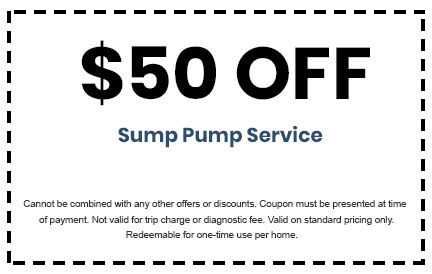 Discount on Sump Pump Service