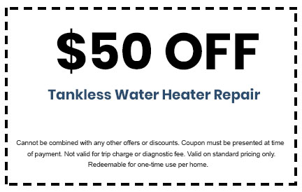 Discount on Tankless Water Heater Repair