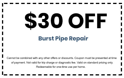 Discount on Burst Pipe Repair