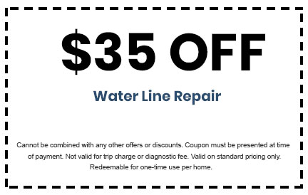 Discount on Water Line Repair