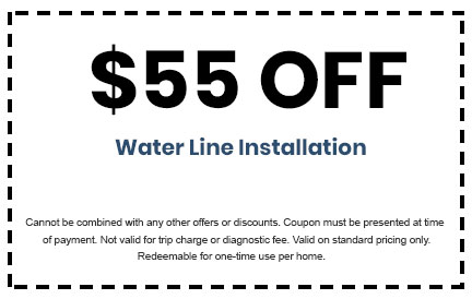 Discount on Water Line Installation